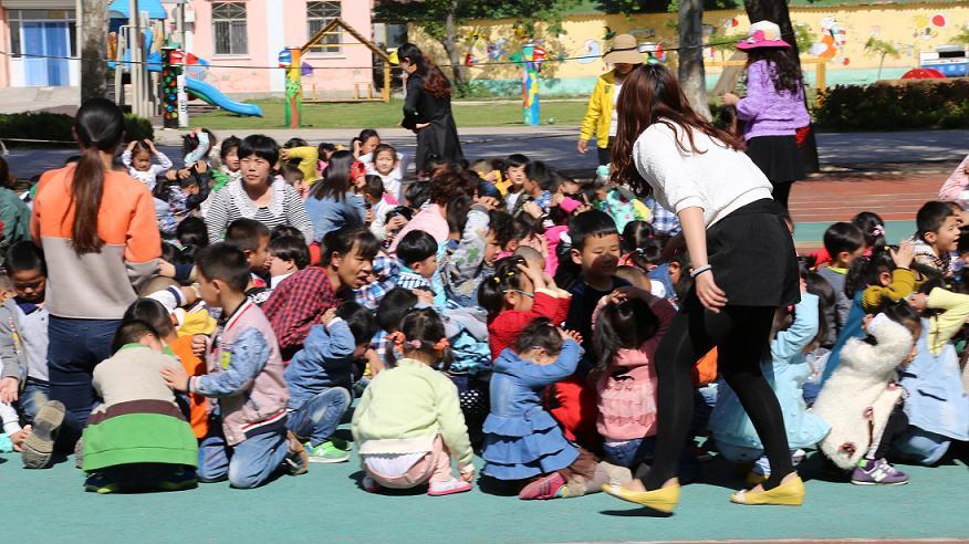 团结幼儿园举行地震逃生演练活动